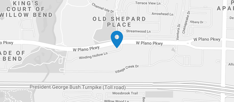 map of North Dallas Urology Associates in Plano Texas